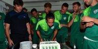 Bursasporda Jorqueraya doğum günü sürprizi
