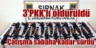 Çatışma sabaha kadar sürdü: 3 PKK'lı öldürüldü