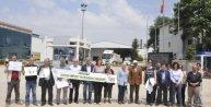Çevrecilerden sunta fabrikasına kirlilik protestosu