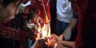 Diyarbakırda Galatasaray bayrağı yakıldı, Kürt bayrakları açıldı