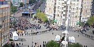 Diyarbakırda kobani Yürüyüşü Gerginliğinde, Asker Kente İndi (2)