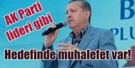 Erdoğan Batman'da AK Parti Lideri gibi konuştu