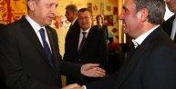 Erdoğan, Romanya ziyaretinde Galatasarayın efsane futbolcusu Hagi ile buluştu