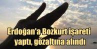 Erdoğan'a Bozkurt işareti yapan kadın gözaltına alında