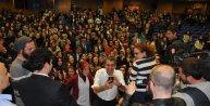 Erkan Petekkaya, üniversite öğrencileri ile söyleşi yaptı