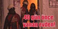 Fatihte 40 gün önce yanan evden 2 ceset çıktı