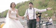 Fırtına Vadisi'nde düğün için klip çektiler: Çocuklarımızı bu vadide büyütmek istiyoruz