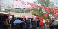 Fotoğraflar // MHP Seçim İrtibat Bürosu yakınında silah sesleri