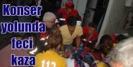 Funda Arar konseri öncesi feci kaza, 25 yaralı var