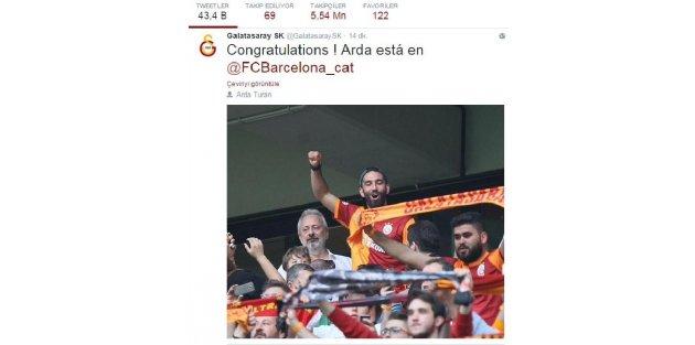Galatasaraydan Ardaya tebrik mesajı