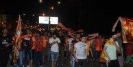 Gaziantepte Galatasarayın şampiyonluğu kutlandı