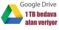 Google'dan 1 TB depolama alanı ödülü