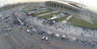 Havadan fotoğraflarla Olimpiyat Stadyumunda maç heyecanı