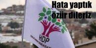 HDP; Hata yaptık özür dileriz
