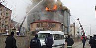 Iğdır polis evinde korkutan yangın