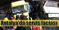 İşçi servisi TIRla çarpıştı, 5 ölü 30 yaralı var