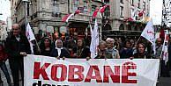 İstiklal Caddesinde Kobani Yürüyüşü