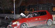 Kağıthanede feci kaza: 1 ölü, 1 ağır yaralı