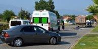 Kamyon çarpan bisiklet sürücüsü öldü