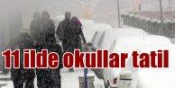Kar yağışı, 11 ilde okulları tatil ettirdi