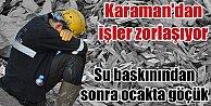 Karaman'da son durum,  Madende su tahliyesi durdu