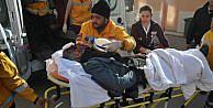 Kask Takmayan Motosiklet Sürücüsü Ağır Yaralandı