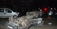 Kastamonuda otomobil takla attı: 1 yaralı