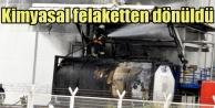 Kimyasal tesiste patlama, felaket son anda önlendi