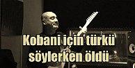 Kobani destek konserinde hayatanı kaybetti