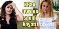 KPSS sınavına girebilmek için sarışın oldu