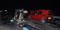 Kütahyada zincirleme kaza: 2 ölü, 8 yaralı
