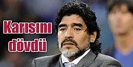 Maradona'dan Bir Skandal Daha, bu kez karısını dövdü