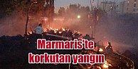 Marmariste yangın hızla yayılıyor