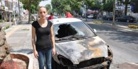 Meclis üyesince tartaklanan kadının otomobili ateşe verildi