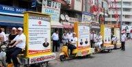 MHP, adaylarını bisiklet turuyla tanıttı