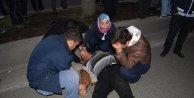 Midibüsün çarptığı yaya yaralandı, oğlu gözyaşı döktü