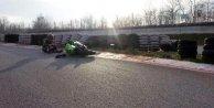Milli motosikletçi Toprak, antreman yaparken yaralandı