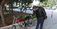 Nizipte 2 Ay Önce Çalinan Motosiklet Bulundu