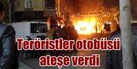 Nurtepe'de halk otobosü ateşe verildi