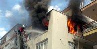 Öğrenci evinde çıkan yangın korkuttu