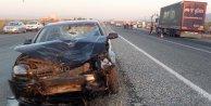 Otomobil, sepetli motosikletle çarpıştı: 2 ölü 1 yaralı
