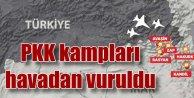 PKK Kandil Kampları 22 uçakla havadan vuruldu
