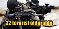 PKK Nusaybinde ağır kayıp verdi. 22 terörist öldürüldü