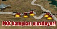 PKK'nın Kandil Kampları havadan bombalanıyor
