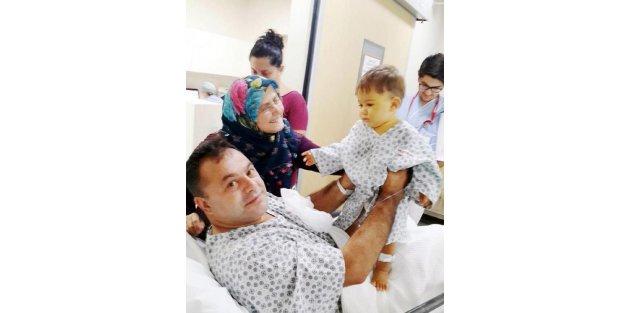 Poyraz bebek babasının karaciğeriyle yaşama tutundu