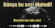 Rosettanın iniş sesi dinleme rekorları kırdı