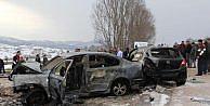 Samsunda 2 otomobil çarpıştı: 1 ölü, 7 yaralı