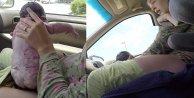 Saniye saniye arabada doğum yaptı (izle)