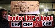 Sarıyer Belediyesi Taşeron işçileri CHP binasını işgal etti