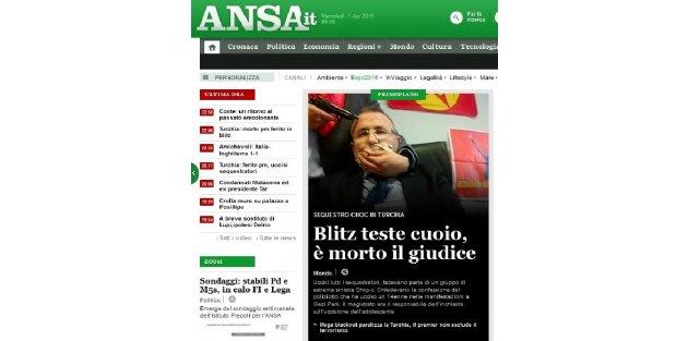 Savcı Kirazın rehin alınması İtalyan basınında - FOTOĞRAF